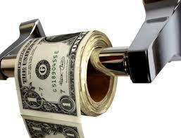 Peniaze ako toaletný papier