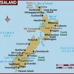 Mapa Nového Zélandu