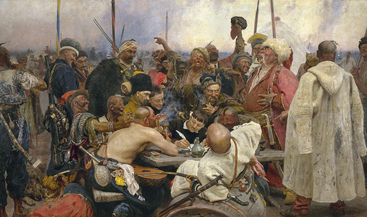Ilia Jefimovič Repin - Kozáci trollujú sultána