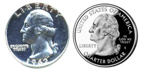 us_quarters_before_and_after_1964