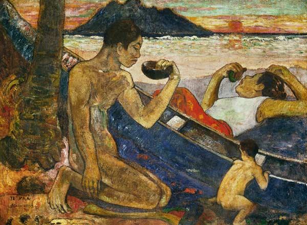 Paul Gauguin, Kánoe (tahitská rodina)